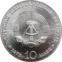 """ГДР 10 марок 1975 г., UNC, """"100 лет со дня рождения Альберта Швейцера"""""""