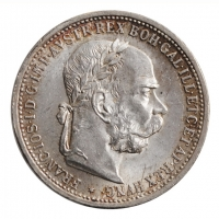 "Австрия 1 крона 1899 г., UNC, ""Император Франц Иосиф (1848 - 1916)"""