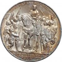 """Пруссия 3 марки 1913 г., BU, """"100 лет объявлению войны против Франции"""""""
