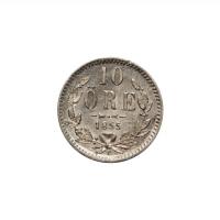 "Швеция 10 эре 1855 г. T, UNC, ""Король Оскар I (1844 - 1859)"""