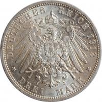 """Любек 3 марки 1913 г., BU, """"Свободный город Любек (1871 - 1918)"""""""