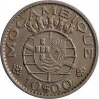 """Мозамбик 10 эскудо 1970 г., XF, """"Португальская колония (1935 - 1974)"""""""