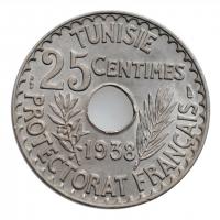 "Тунис 25 сантимов 1938 г., BU, ""Французский протекторат (1890 - 1957)"""
