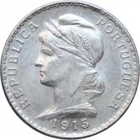 """Португалия 1 эскудо 1915 г., UNC, """"Португальская Республика (1911 - 1969)"""""""