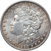 США 1 доллар 1898 г., AU, 'Доллар Моргана'