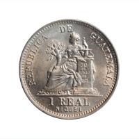 "Гватемала 1 реал 1911 г., BU, ""Реал (1838 - 1912)"""