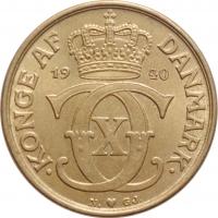 """Дания 1 крона 1940 г. N, UNC, """"Король Кристиан X (1912 - 1947)"""""""
