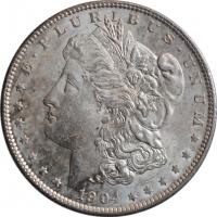"США 1 доллар 1904 г. O, BU, ""Доллар Моргана"""