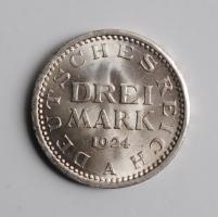 Германия 3 марки 1924 г. А, UNC, 'Веймарская Республика (Марка) (1919 - 1925)'