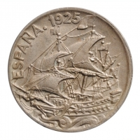 """Испания 25 сентимо 1925 г., BU, """"Король Альфонсо XIII (1886 - 1931)"""""""