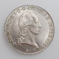 """Австрия 1 талер 1823 г. A, UNC, """"Император Франц II (1806 - 1835)"""""""