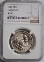 США 50 центов 1924 г., NGC MS65, '300 лет основания Новой Голландии'