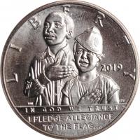"""США 50 центов 2019 г., BU, """"100 лет американскому легиону"""""""