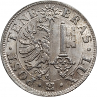 "Швейцарские кантоны 10 сантимов 1844, BU, ""Кантон Женева (1839 - 1850)"""