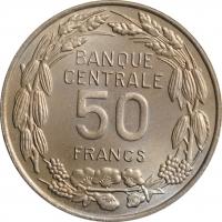 """Камерун 50 франков 1960 г., BU, """"Франк КФА (1958 - 1973)"""""""