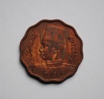 Египет 10 миллим 1938 г., AU, 'Король Фарук I (1936 - 1951)'