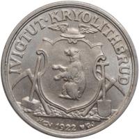 """Гренландия 10 эре 1922 г., UNC, """"Креолитовые шахты Ивигтута"""""""