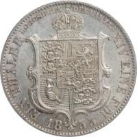 "Ганновер 1 талер 1855 г. B, PCGS MS61, ""Король Георг V (1851 - 1866)"""
