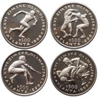 """Босния и Герцеговина набор 500 динаров 1996 г., UNC, """"Олимпийские Игры, Атланта 1996"""""""