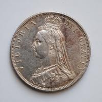 Великобритания 1/2 кроны 1887 г., AU, 'Королева Виктория (1838 - 1901)'