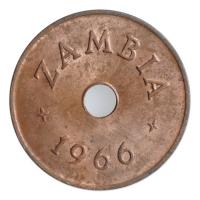 """Замбия 1 пенни 1966 г., UNC, """"Президент Кеннет Каунда (1964 - 1991)"""""""