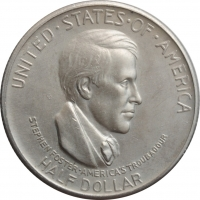 """США 50 центов 1936 г. S, UNC, """"Музыкальный центр Цинциннати"""""""