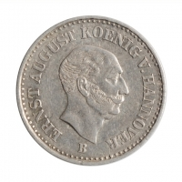"Ганновер 1/12 талера 1844 г. B, XF, ""Король Эрнст Август (1837 - 1851)"""