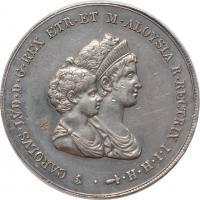 "Тоскана 10 лир 1807 г., AU, ""Король Этрурии Карл Луи (1803 - 1807)"""