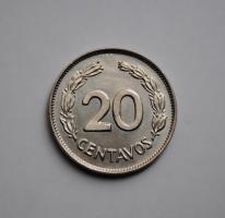 Эквадор 20 сентаво 1966 г., UNC, 'Республика Эквадор (1919-1987)'