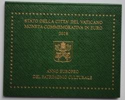 Ватикан 2 евро 2018 г., BU, 'Европейский год культурного наследия'