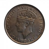 """Британская Восточная Африка 1 шиллинг 1937 г. H, BU, """"Король Георг VI (1937 - 1952)"""""""