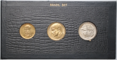 """Бразилия набор 500, 1000, 2000 рейсов 1935 г., BU, """"Первая Республика (1889 - 1942)"""""""