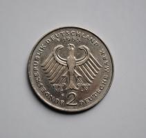 ФРГ 2 марки 1985 г. F, 'Теодор Хойс, 20 лет Федеративной Республике (1949-1969)'