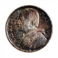 """Ватикан 5 лир 1929 г., BU, """"Папа Пий XI (1929 - 1938)"""""""