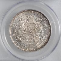 """Саксония 1 союзный талер 1867 г., PCGS MS62, """"Король Иоганн (1854 - 1873)"""""""