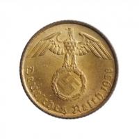 """Германия - Третий рейх 5 рейхспфеннигов 1938 г. A, BU, """"Нацистская Германия (1933 - 1945)"""""""