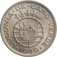 """Кабо-Верде 1 эскудо 1949 г., BU, """"Португальская колония (1914 - 1974)"""""""