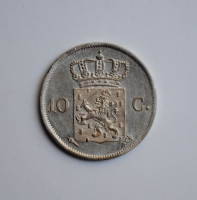 Нидерланды 10 центов 1826 г., XF, 'Король Виллем I (1817 - 1840)'