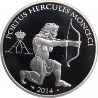 """Монако 10 евро 2014 г., PROOF, """"Геракл"""""""