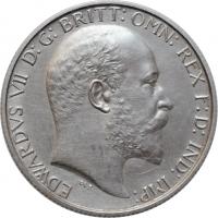 """Великобритания 2 шиллинга (флорин) 1902 г., UNC Details, """"Король Эдуард VII (1902 - 1910)"""""""
