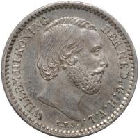 """Нидерланды 10 центов 1890 г., UNC, """"Король Виллем III (1849 - 1890)"""""""
