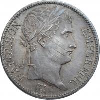 """Франция 5 франков 1811 г. H, UNC, """"Император Наполеон I (1804 - 1815)"""""""