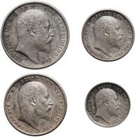 """Великобритания (Набор Монди) 1, 2, 3, 4 пенни 1902 г., UNC, """"Король Эдуард VII (1902 - 1910)"""""""