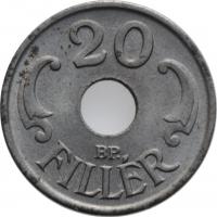 """Венгрия 20 филлеров 1944 г., BU, """"Регентство (Pengő) (1926 - 1945)"""""""