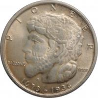 """США 50 центов 1936 г., BU, """"100 лет городу Элджин"""""""