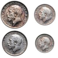 """Великобритания (Набор Монди) 1, 2, 3, 4 пенни 1911 г., PROOF, """"Король Георг V (1910 - 1936)"""""""