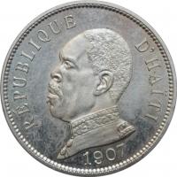 """Гаити 50 сантимов 1907 г., BU, """"Республика Гаити (1863 - 1985)"""""""