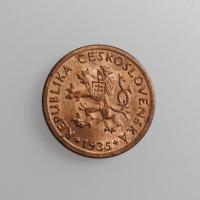 """Чехословакия 10 геллеров 1935 г., BU, """"Первая Республика (1919 - 1938)"""""""
