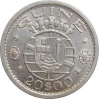 """Гвинея-Бисау 20 эскудо 1952 г., AU, """"Португальская колония (1933- 1974)"""""""