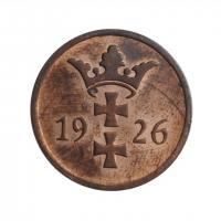 """Данциг 2 пфеннига 1926 г., UNC, """"Вольный город Данциг (1923 - 1939)"""""""